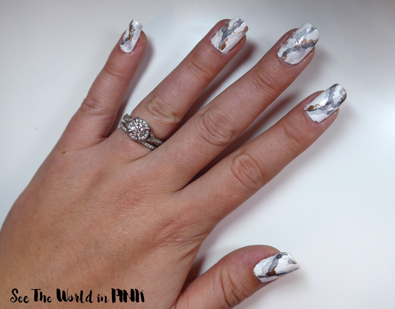 Manicure Tuesday Stone Marble Nail Art See The World