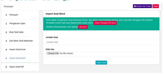 Template Soal word dan pdf