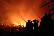 Kebakaran di Jembatan Besi, Hanguskan 40 Rumah
