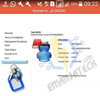 Hasil PDF NISN