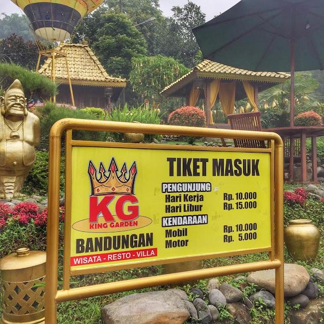 Tiket Masuk King Garden Bandungan