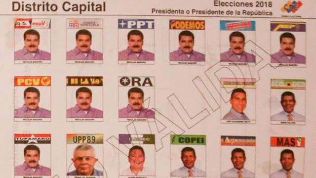 Maduro aparece diez veces en la papeleta para las elecciones presidenciales de Venezuela