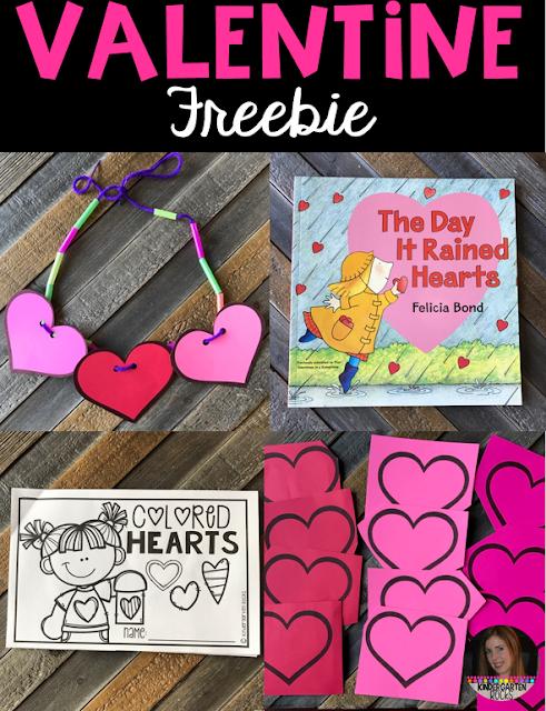 Valentine Freebie for Preschool and Kindergarten