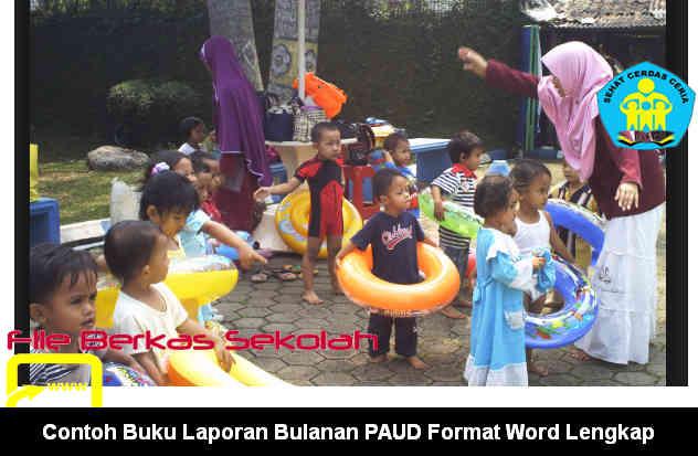 Download Contoh Buku Laporan Bulanan PAUD Format Word Lengkap