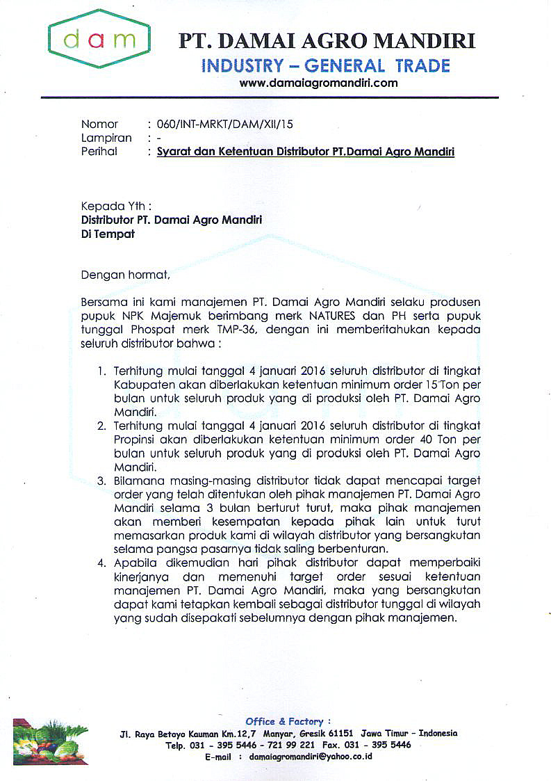 contoh surat perjanjian kerjasama produksi surat w