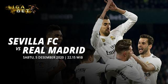PREDIKSI PARLAY SEVILLA VS REAL MADRID SABTU 5 DESEMBER 2020