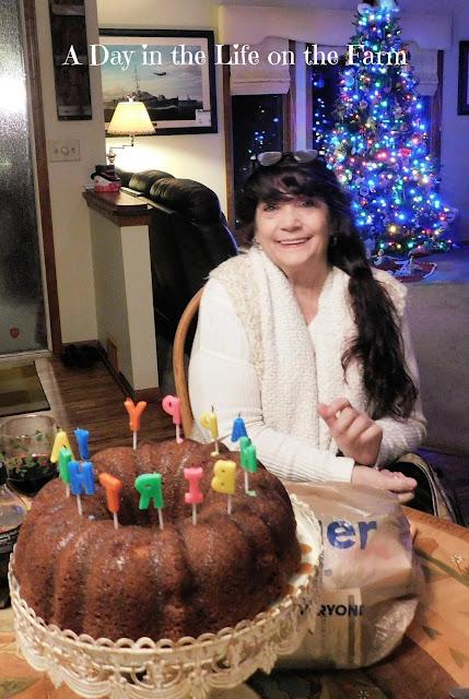 Woman and Birthday Cake