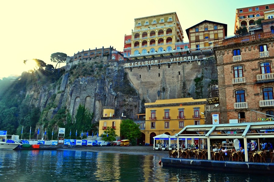 Sorrento Port Wharf in Italy