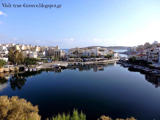 Lake Voulismeni at the centre Agios Nikolaos in Crete