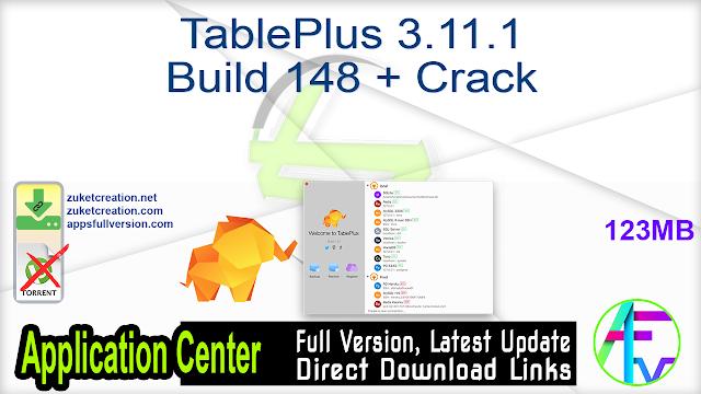 TablePlus 3.11.1 Build 148 + Crack