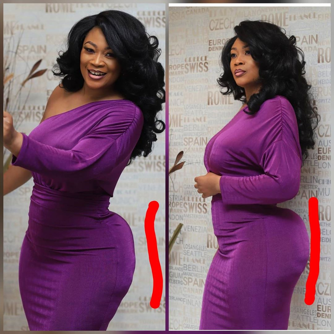 Abena - PHOTOS: Abena Boakye Of TV3's GMB Fame Busted & Trolled For Inflating Her Flat Butts With Foams