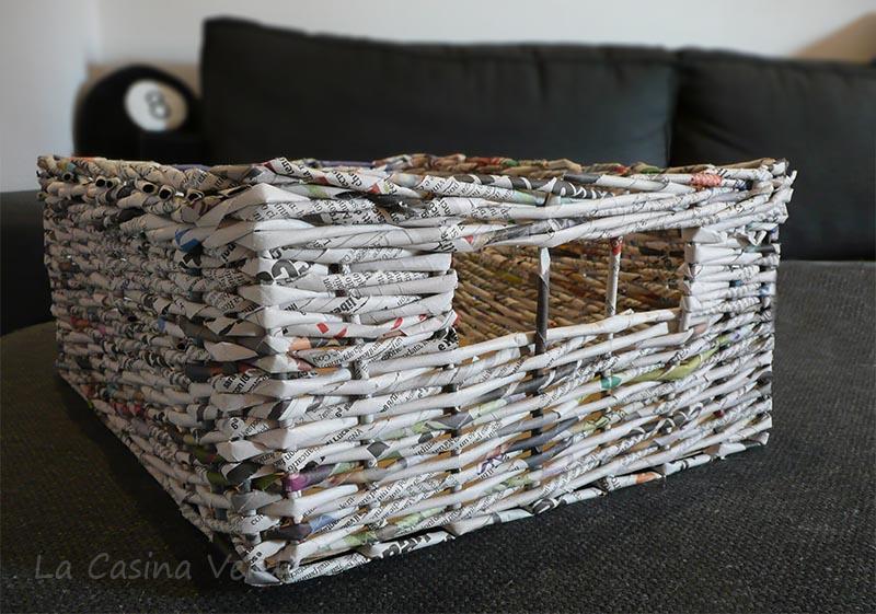 Favoloso La Casina Verde: Cestino quadrato in carta di giornale. Le mie  KU67