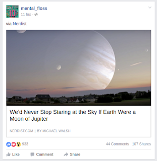 screen snap from Facebook; simulated skyline with Jupiter rising