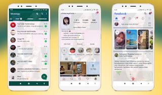 Cara Mengubah Tampilan Whatsapp, IG, Facebook dll Menjadi Transparan
