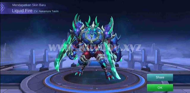 Mobile legends menghadirkan skin terbaru untuk hero fighter Thamuz Script Skin Elite Thamuz Liquid Fire No Cooldown Skill Mobile Legends