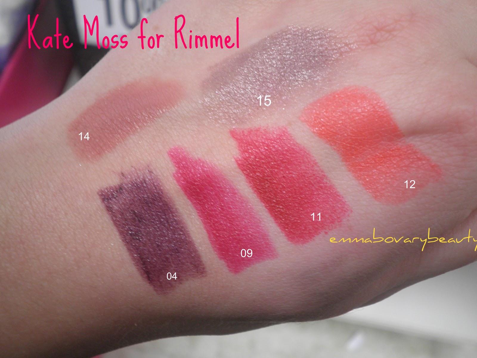 Emmabovarybeauty Lasting Finish Lipsticks Rimmel By Kate