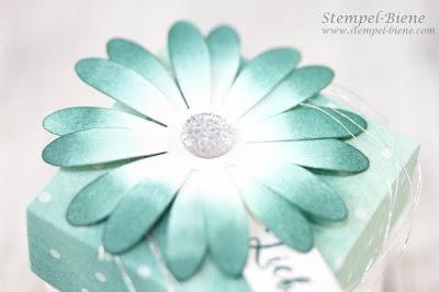 Diamantbox; Stanze Gänseblümchen; stampinup; stempelparty; gastgeschenke stempelparty; stempel-biene