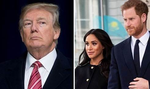 So fast! Trump says Harry and Meghan must pay for security as couple move to the US