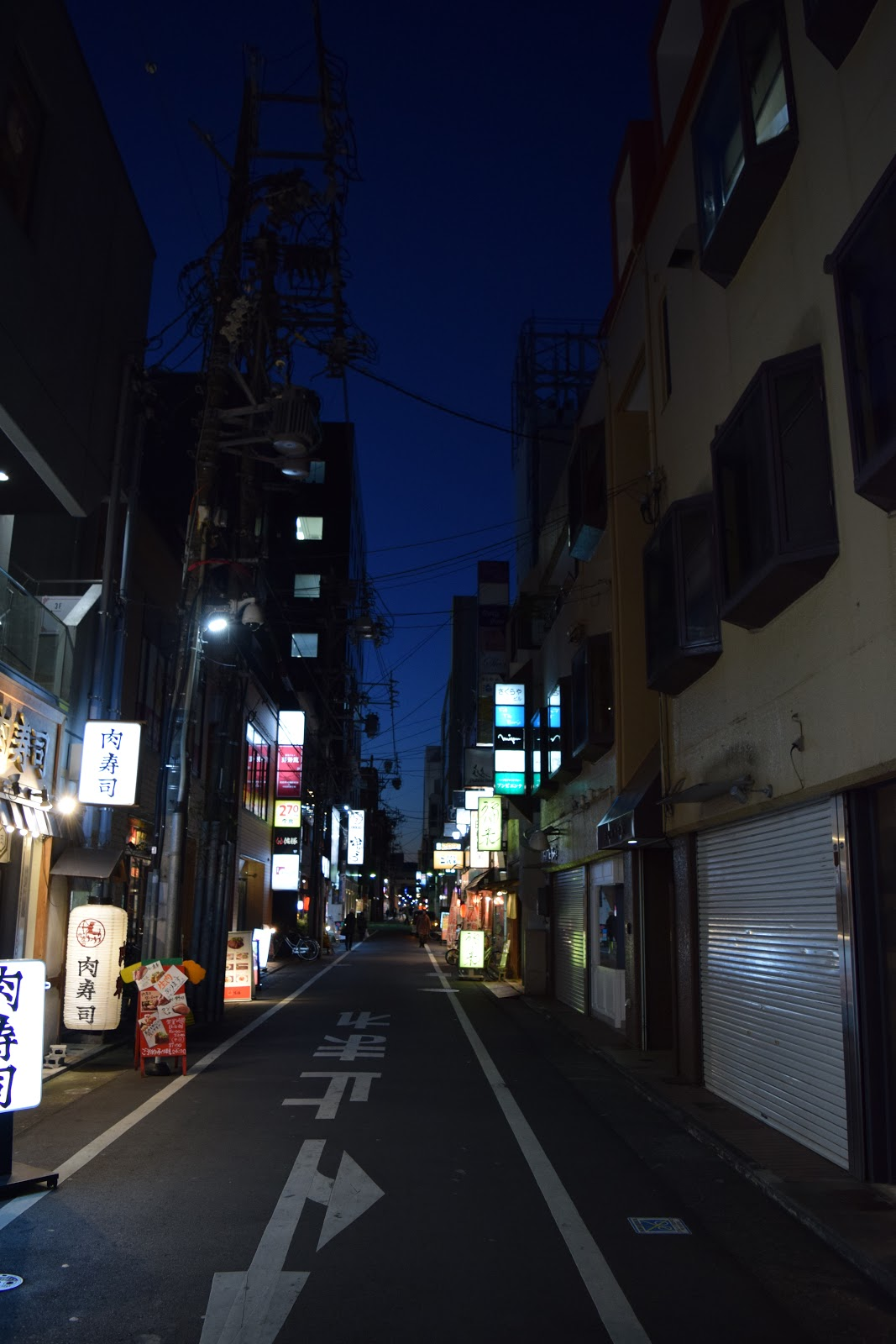 Street in Shizuoka's entertainment district