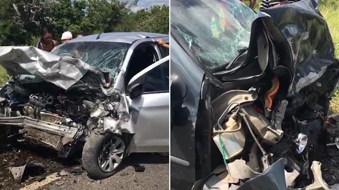 Homem morre e mulher fica ferida em acidente entre Miguel Calmon e Jacobina