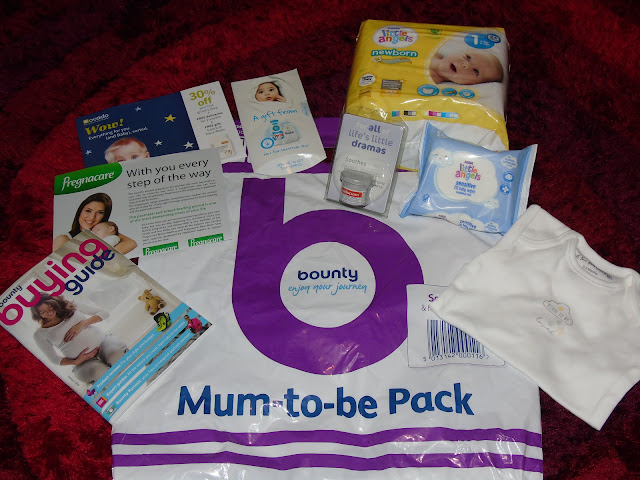 Mum-to-be Bounty pack from Asda with freebies.