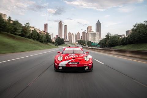 Retro Coke Livery for Porsche at Petit Le Mans