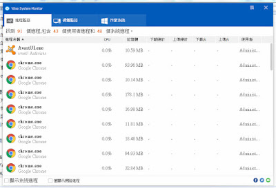 掌握電腦系統軟硬體運作狀況,Wise System Monitor V1.37.33 繁體中文綠色免安裝版!