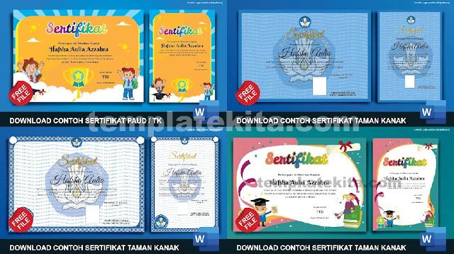 Gratis Sertifikat PAUD .doc :  Download Kumpulan Sertifikat PAUD Dan TK Microsoft Word