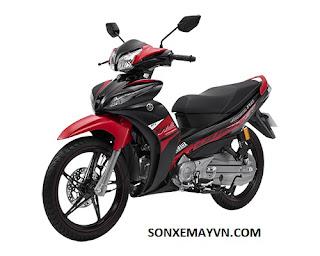 Bán Sơn xe máy YAMAHA JUPITER màu đỏ đen