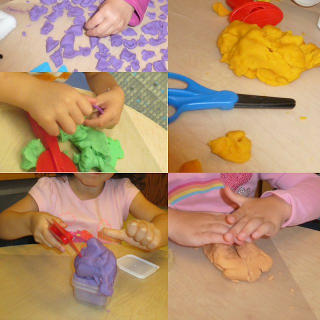 collage of play dough images