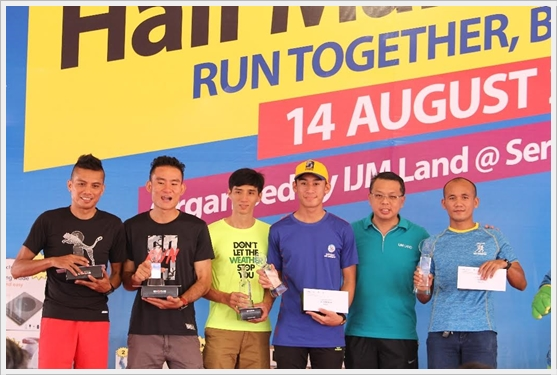 21 km MEN OPEN Top 5 IJM Half Marathon 2016