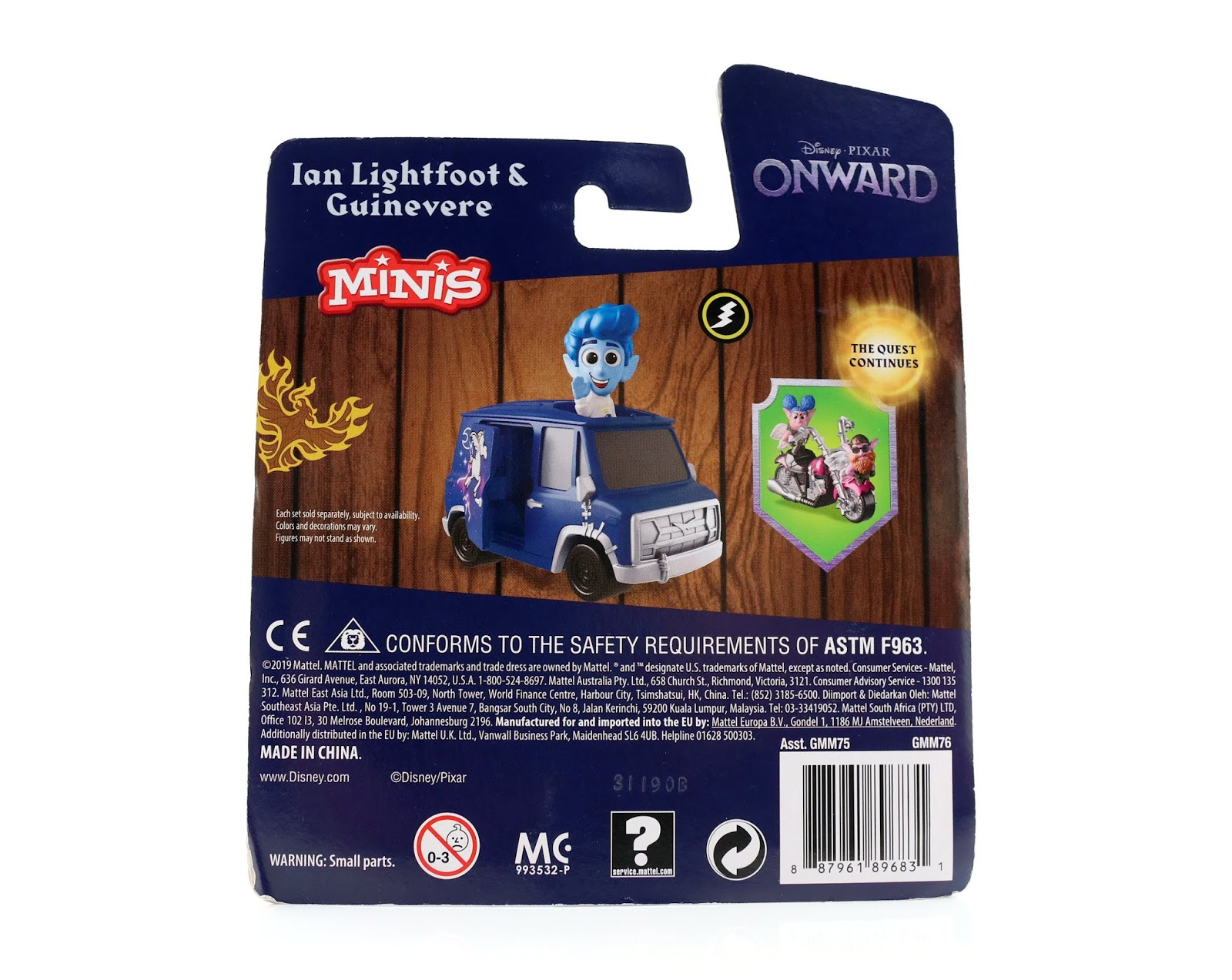 mattel pixar onward minis vehicles