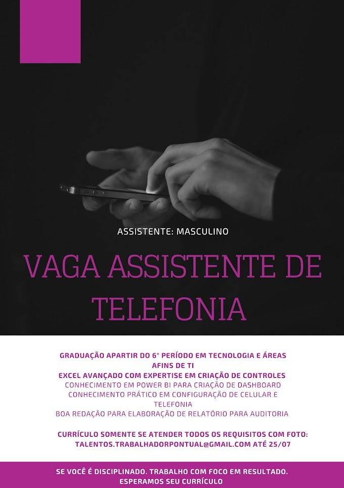 ASSISTENTE DE TELEFONIA