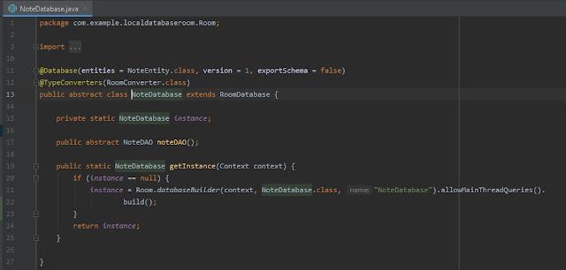 كيفية تخزين البيانات في gson واستخدامها في room database في Android Studio
