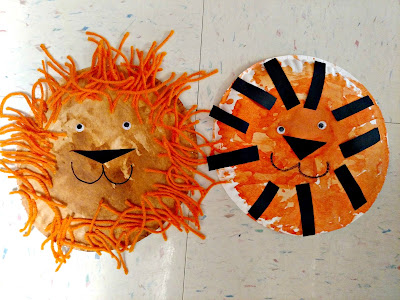 Lion and Tiger Paper Plate Craft | Apples to Applique