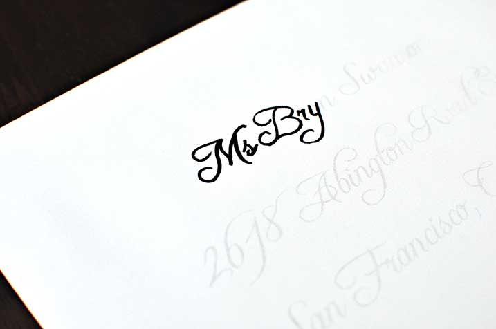 The Cheese Thief: Easy Caligraphy Envelopes Tutorial (Cheating Method)
