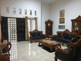 Ruang Tamu Rumah Mewah Murah Dalam Komplek Di Gaperta Ujung Medan