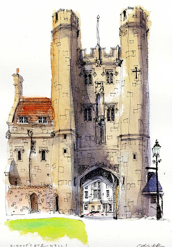 11-UK-Bishop-s-Eye-Chris-Lee-Charming-Architectural-wobbly-Drawings-and-Paintings-www-designstack-co