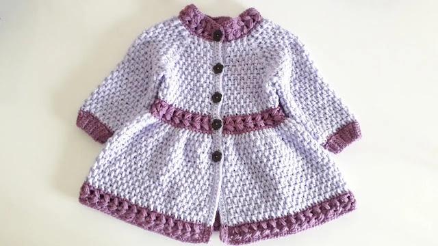 Preciosa Chaqueta de Niña Springtime a Crochet