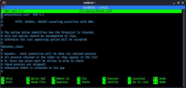 Archivo de configuración para cadenas de proxy