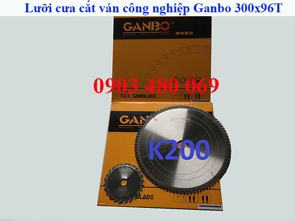Bộ lưỡi cưa cắt gỗ công nghiệp MDF MFC Ganbo K200