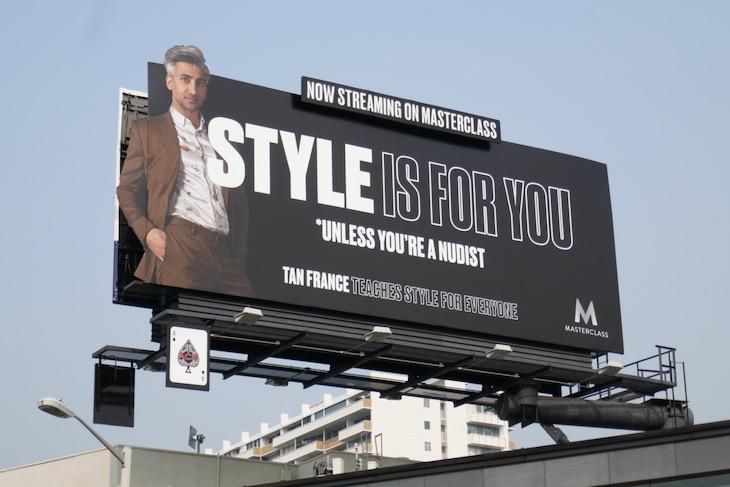 Tan France Style MasterClass billboard