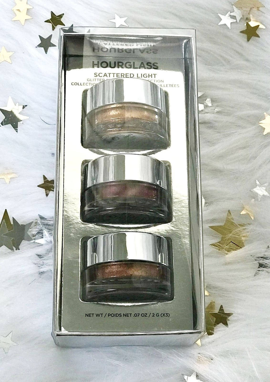 Hourglass Scattered Light Glitter Eyeshadow Trio Review and giveaway