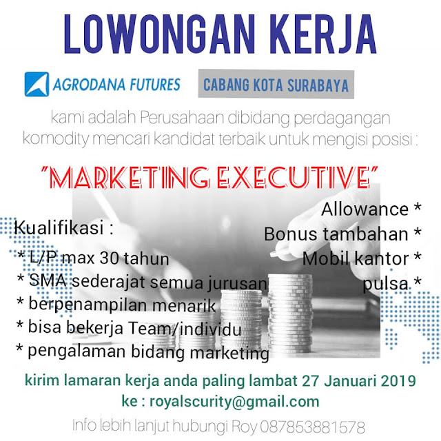 lowongan kerja Marketing Executive Agrodana Future