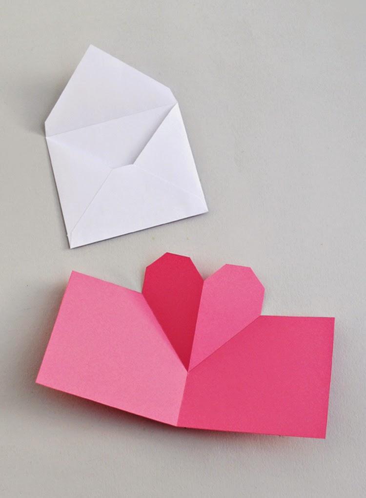 Днем, открытка ко дню святого валентина оригами