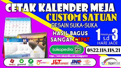 Cetak Kalender Meja / Duduk Murah di Kiaracondong, Bandung