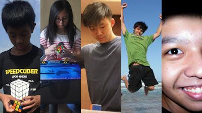 Cuber Indonesia yang menduduki peringkat lima besar nasional rubik Square-1 kategori single