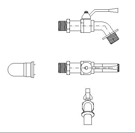 FREE CAD FILE: Hose bibb .dwg free