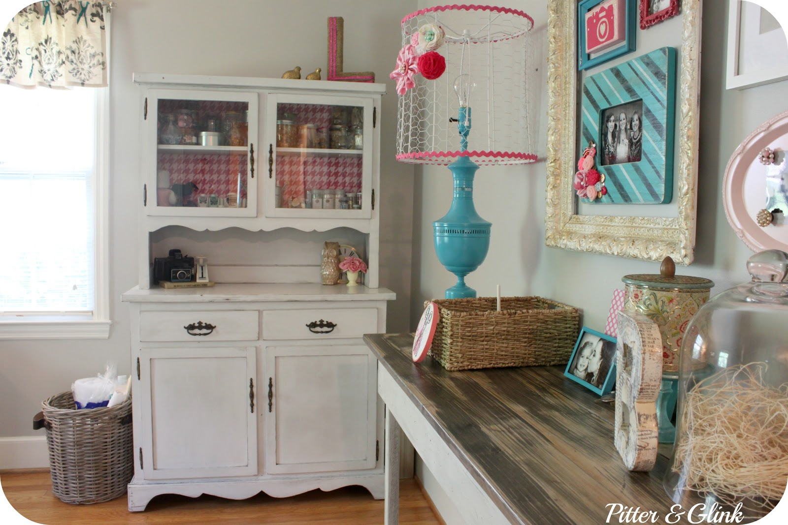 Craft Room Makeovers: PitterAndGlink: {Thrift Store Lamp Makeover}