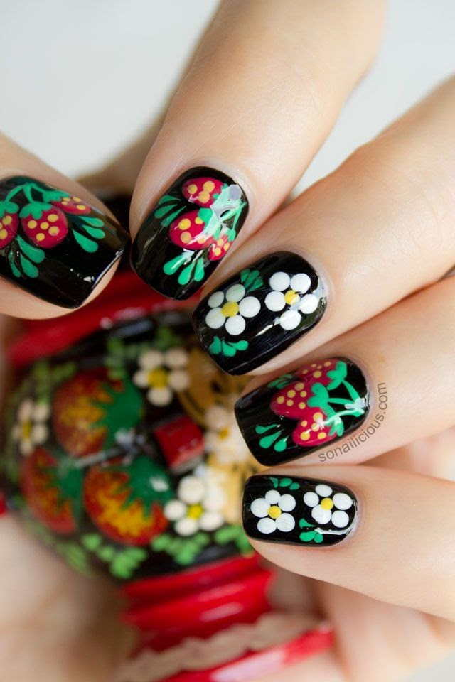 Floral Nailart - Pinterest find by Pascale De Groof